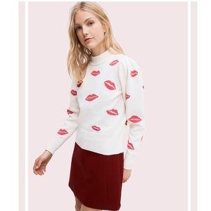kate spade Sweaters - Kate Spade Kiss lips mockneck sweater XXS